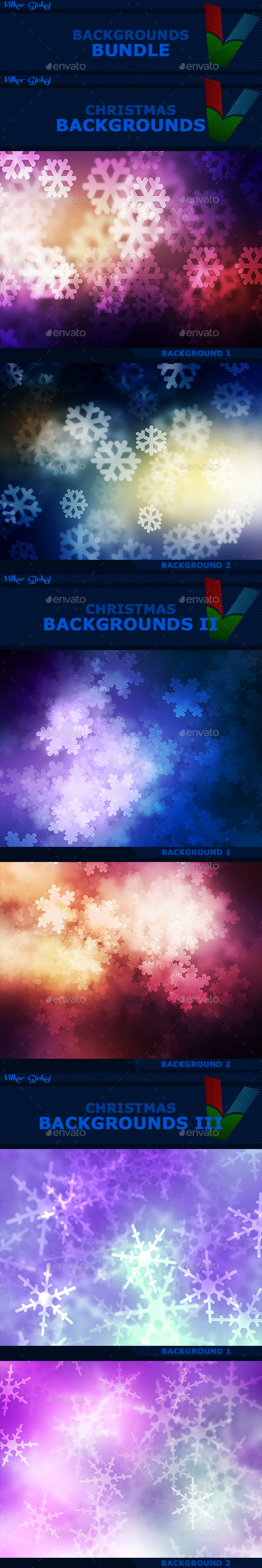 15 Christmas Backgrounds Bundle - Abstract Backgrounds