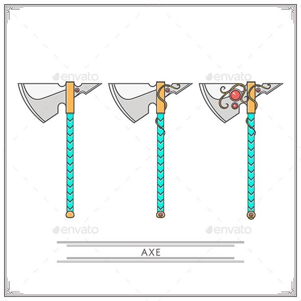 Fantasy Axe - Man-made Objects Objects