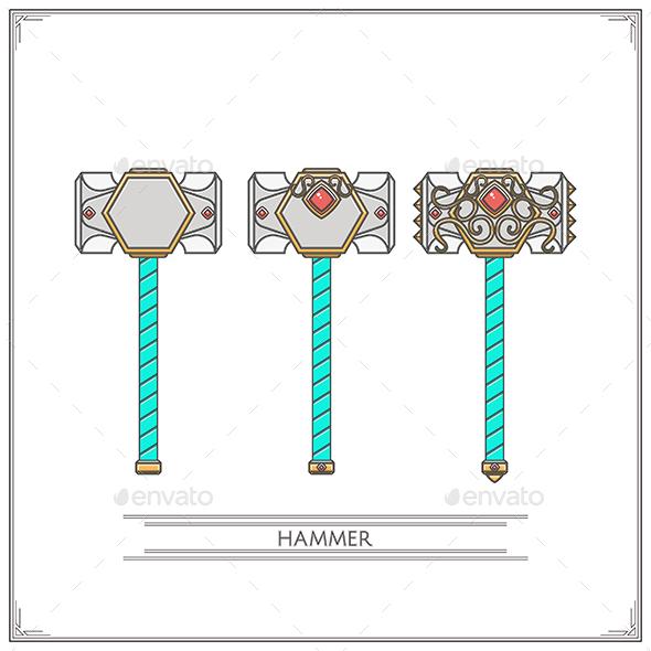 Fantasy Hammer - Objects Vectors