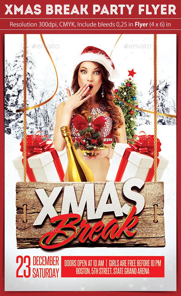 X-Mas Break Party Flyer - Clubs & Parties Events