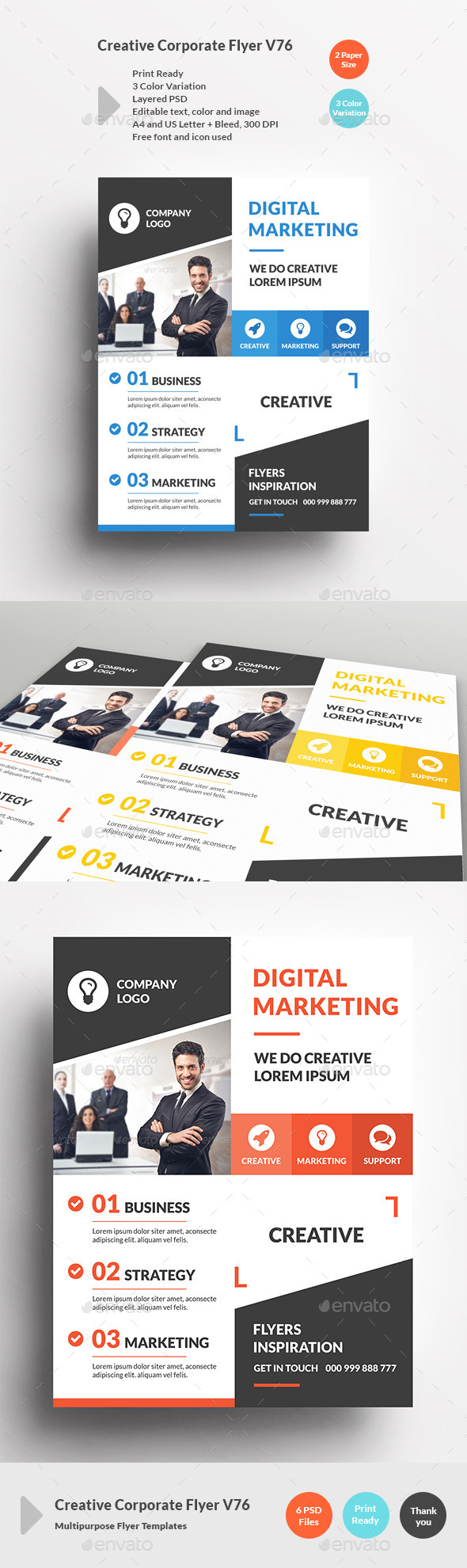 Creative Corporate Flyer V76 - Corporate Flyers