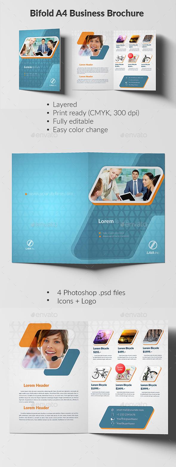 Bifold A4 Business Brochure - Brochures Print Templates