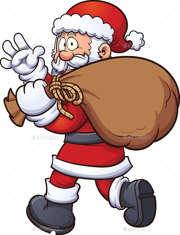 Santa Claus with Bag - People Characters