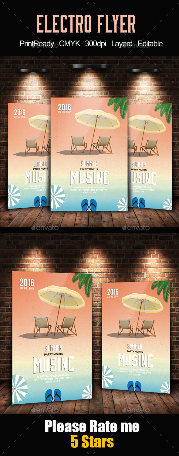 Beach, Spring or Summer Party Flyer - Holidays Events
