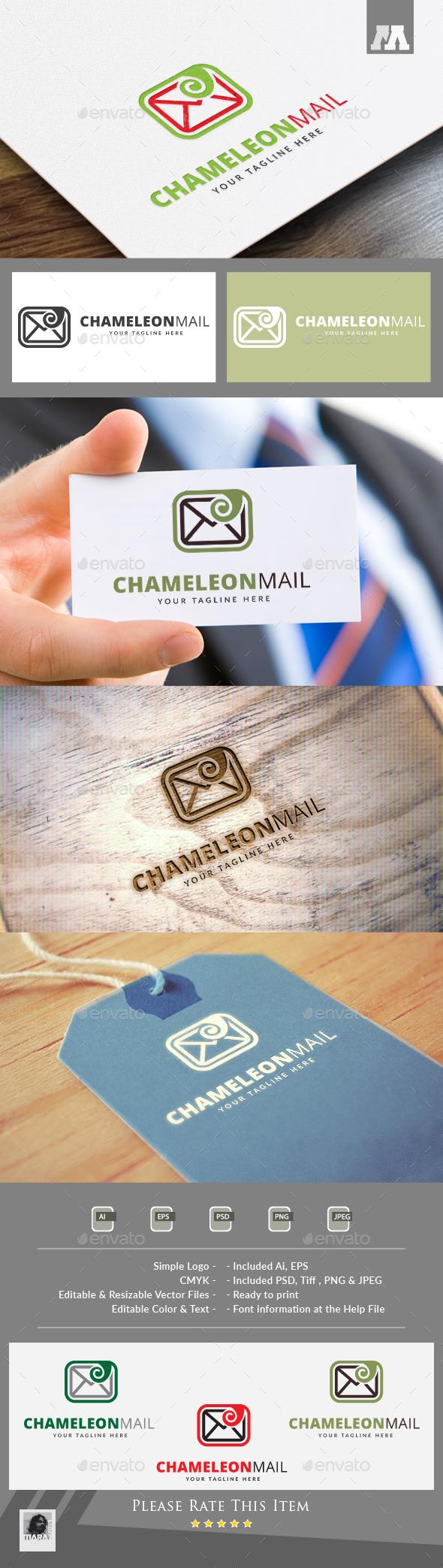 Chameleon Mail Logo - Symbols Logo Templates