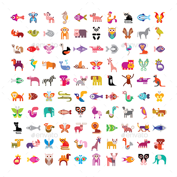 Animal Icon Set - Animals Characters