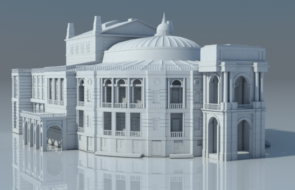 Opera house, Odessa, Ukraine - 3DOcean Item for Sale