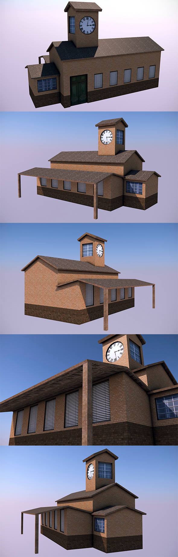 Low Poly Motel - 3DOcean Item for Sale