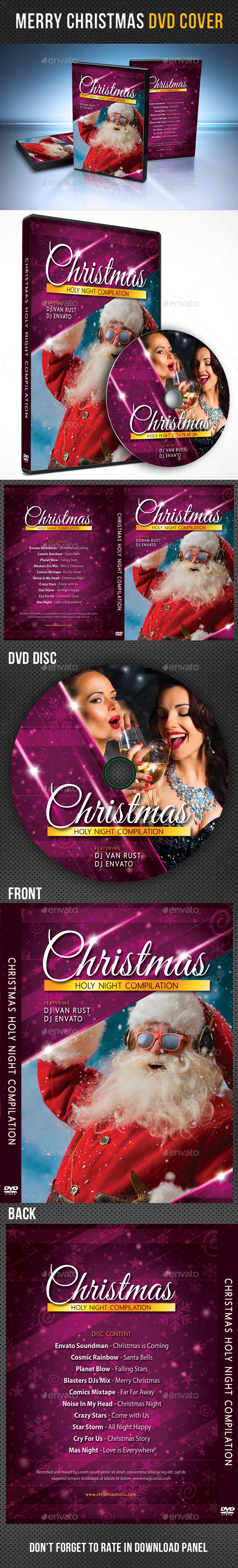 Merry Christmas DVD Cover Template - CD & DVD Artwork Print Templates