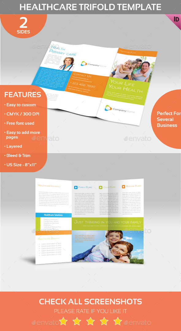Healthcare Trifold Template - Informational Brochures