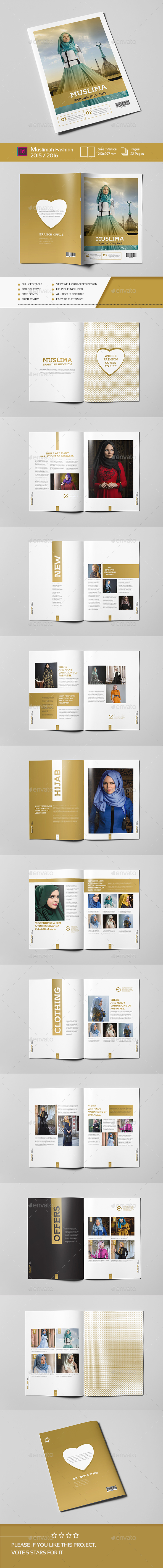 Muslimah Fashion 22 Pages A4 - Brochures Print Templates