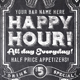 Chalk Happy Hour Flyer Invite - GraphicRiver Item for Sale