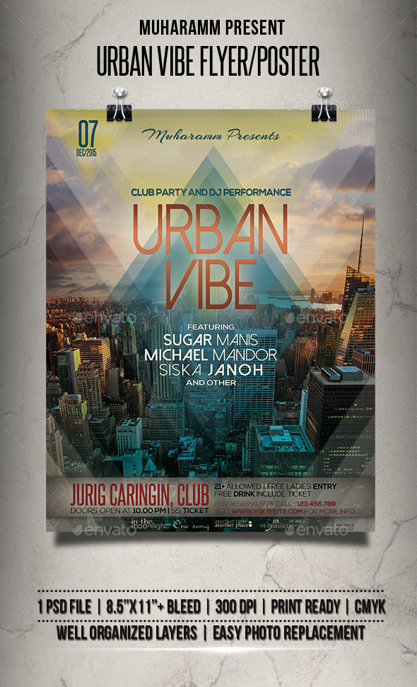 Urban Vibe Flyer / Poster - Events Flyers
