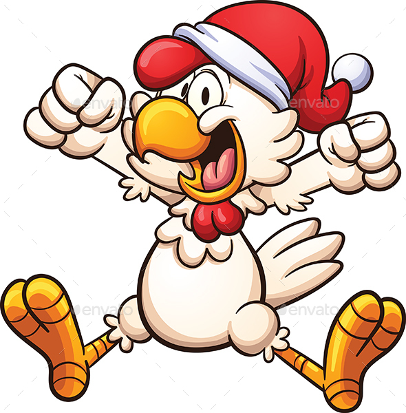 Christmas Chicken - Animals Characters