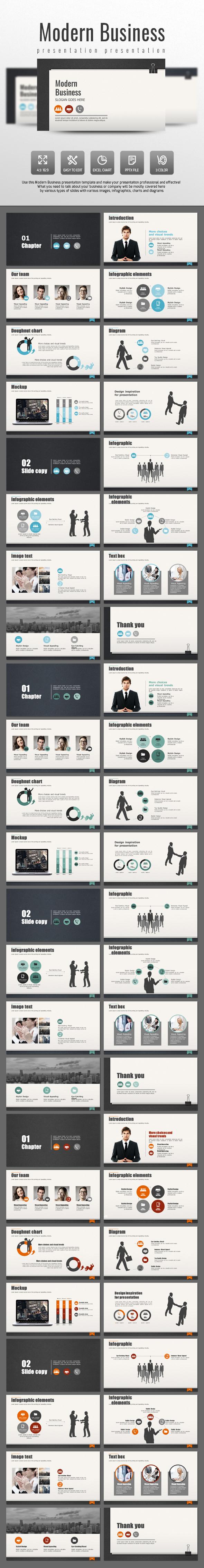 Modern Business - Business PowerPoint Templates