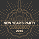 2016 New Year's Party Flyer Template - GraphicRiver Item for Sale