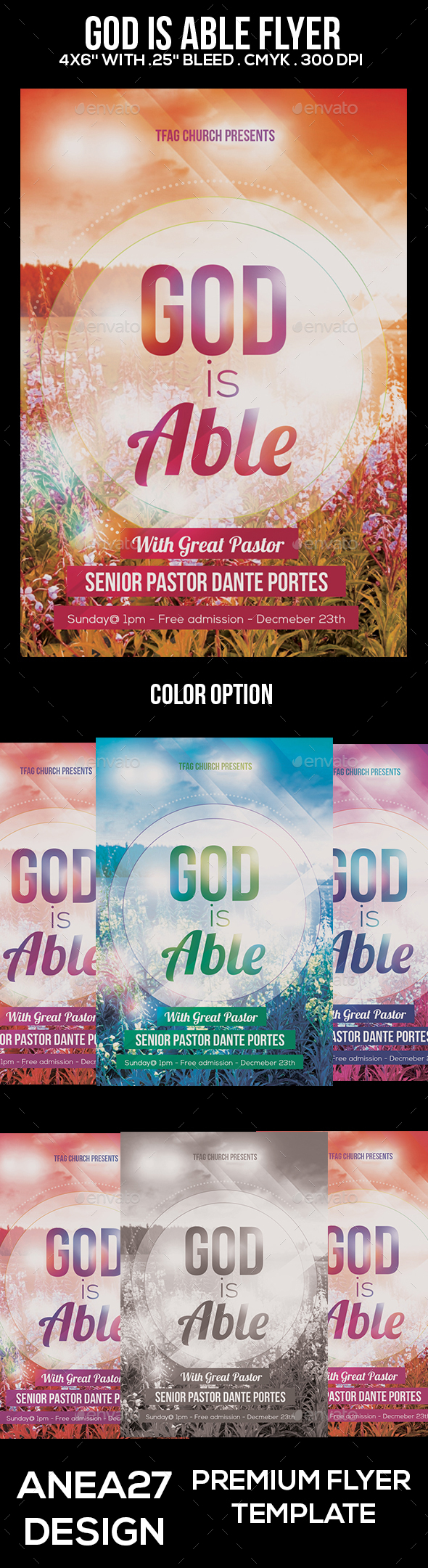 God is Able Flyer - Events Flyers