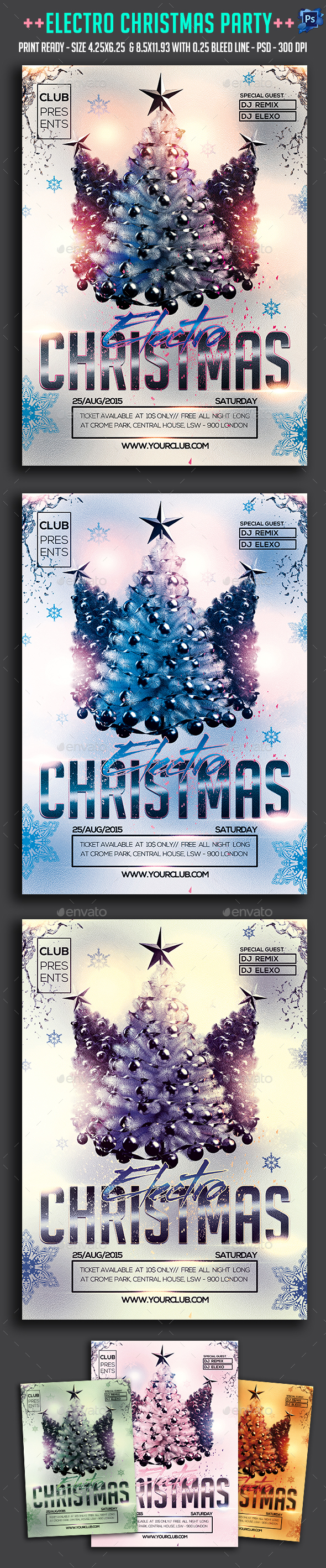 Electro Christmas Party Flyer - Clubs & Parties Events