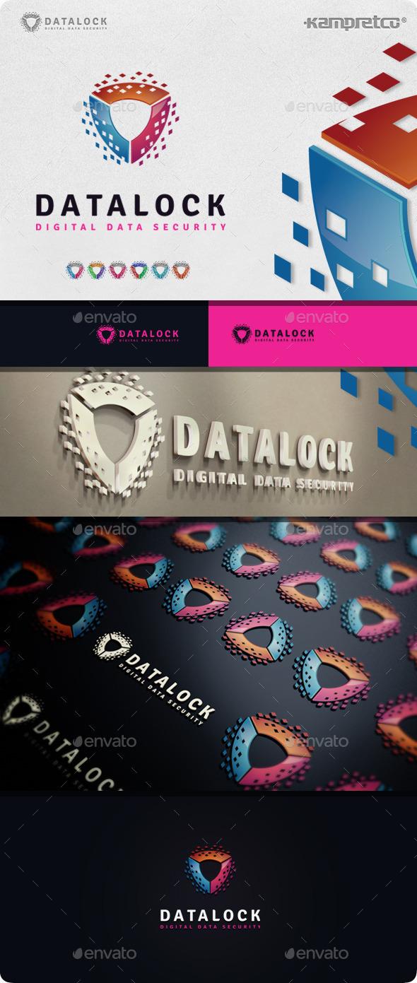 Shield Data Logo - Vector Abstract