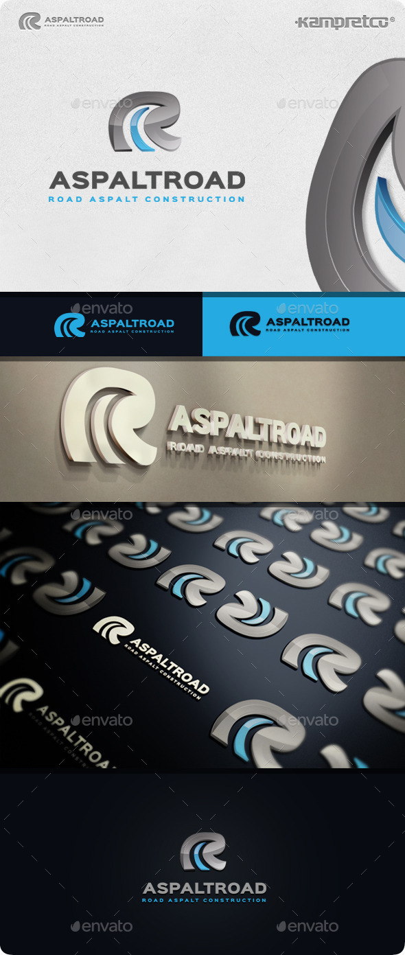 Aspalt Road Logo - Letters Logo Templates