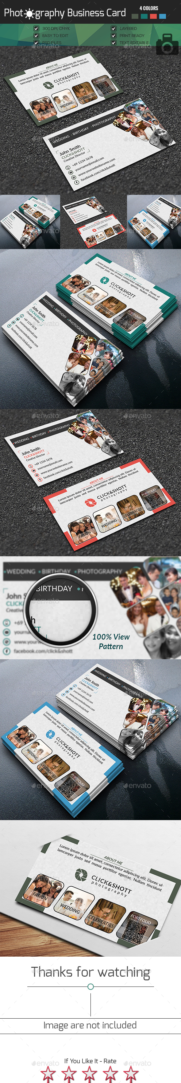 photographer business card - Business Cards Print Templates