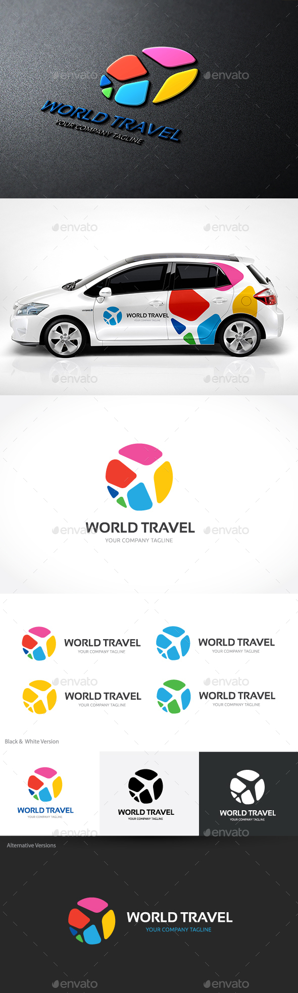 World Travel - Nature Logo Templates