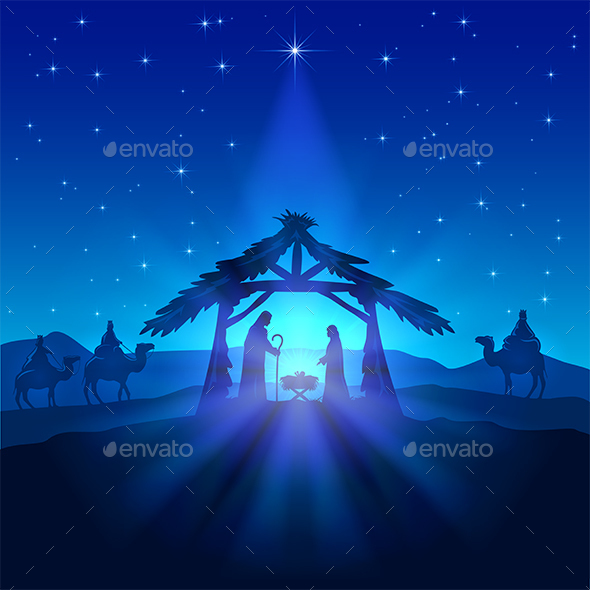 Christmas Star and Birth of Jesus - Christmas Seasons/Holidays