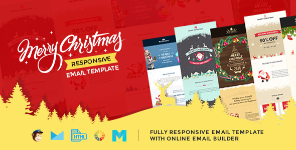 Christmas Responsive Email Template with Builder