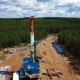 Aerial View Oil Gas Drilling Tower In Forest - VideoHive Item for Sale