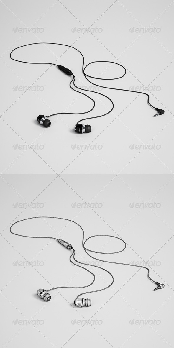 CGAxis Earbuds Electronics 32 - 3DOcean Item for Sale