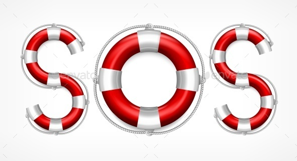 SOS Symbol on White  - Concepts Business