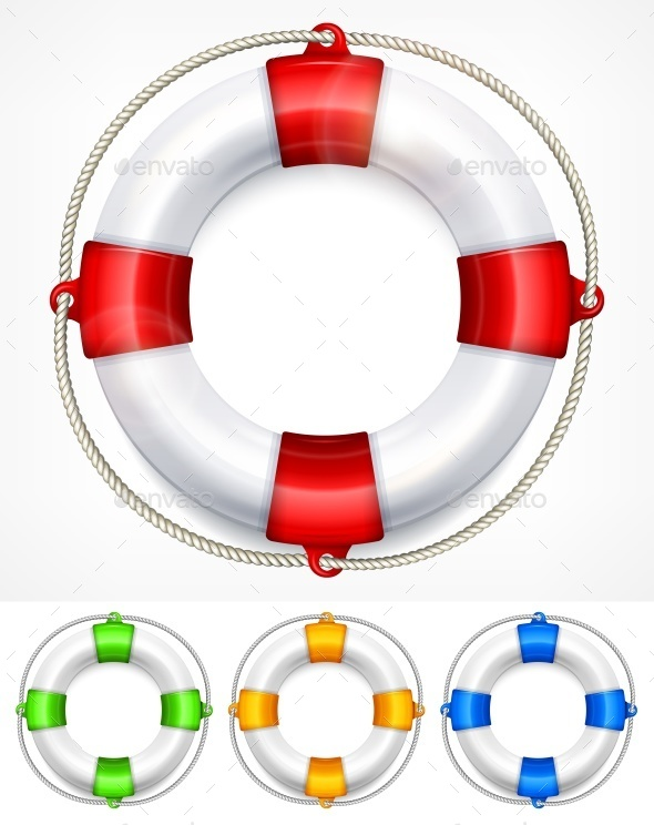 Color Life Buoy on White - Concepts Business