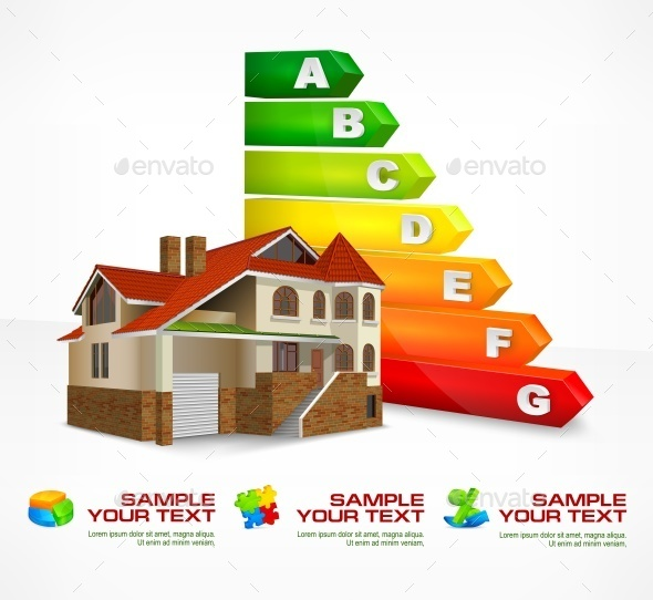 Energy Efficiency Rating with Big House  - Concepts Business