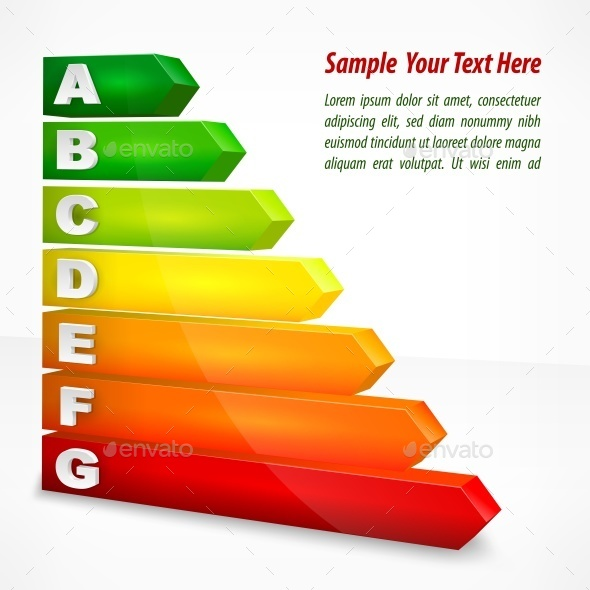 Energy Efficiency Rating Color  - Concepts Business