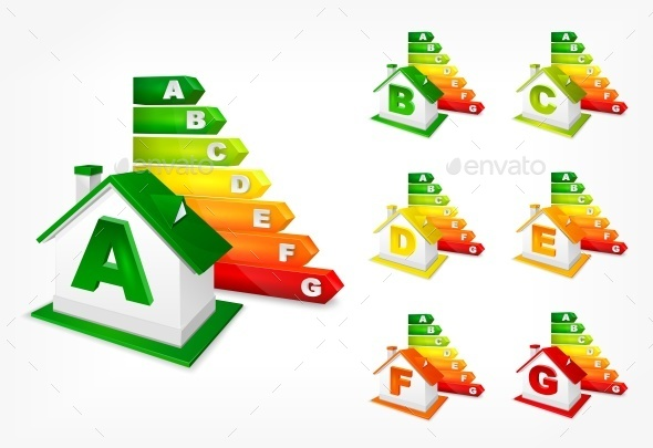 Different Energy Efficiency Rating and House - Concepts Business