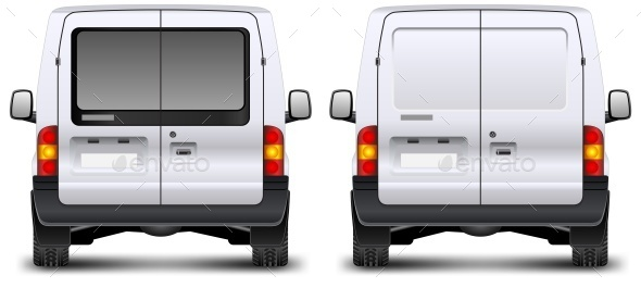 Minivan Rear View  - Concepts Business