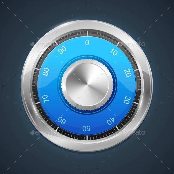 Combination Lock. Vector - Objects Vectors