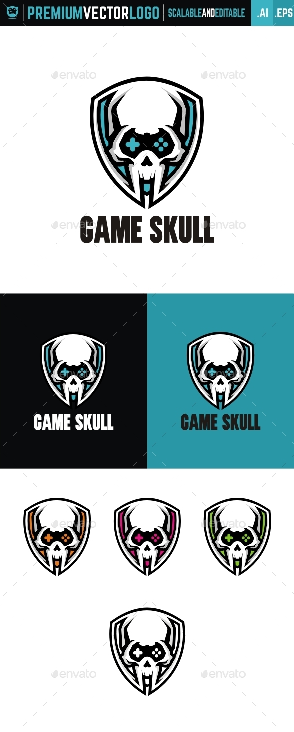 Game Skull - Symbols Logo Templates