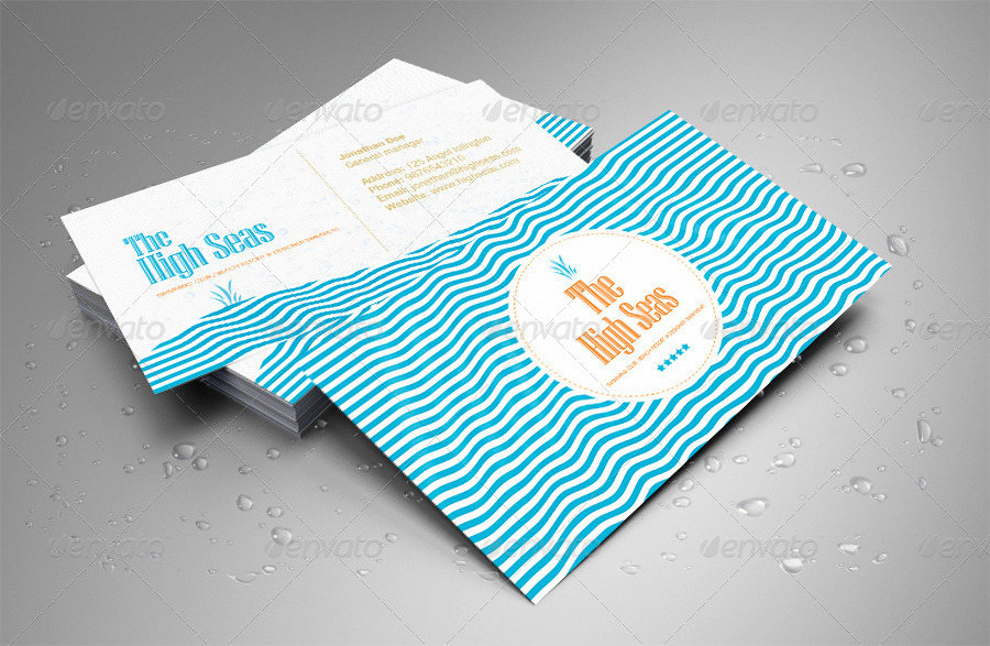 Hotel, Beach Resort, Swimming Club Business Card by ShermanJackson