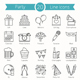 20 Party Line Icons - GraphicRiver Item for Sale