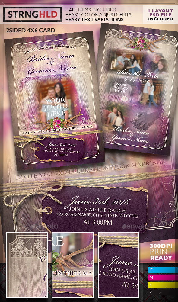 Vintage Lace Save The Date Flyer Template - Weddings Cards & Invites
