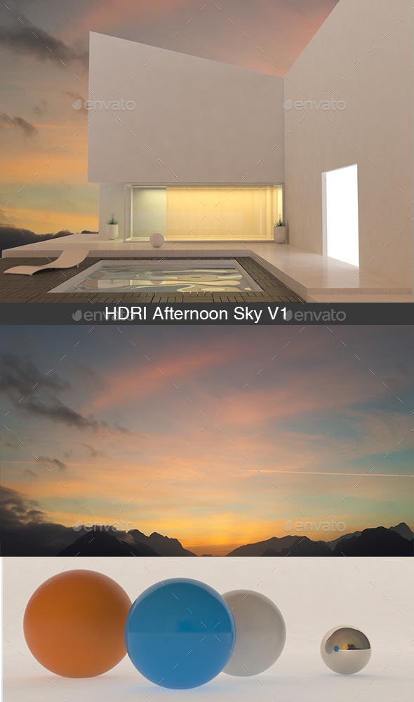 Afternoon Sky V1 - 3DOcean Item for Sale