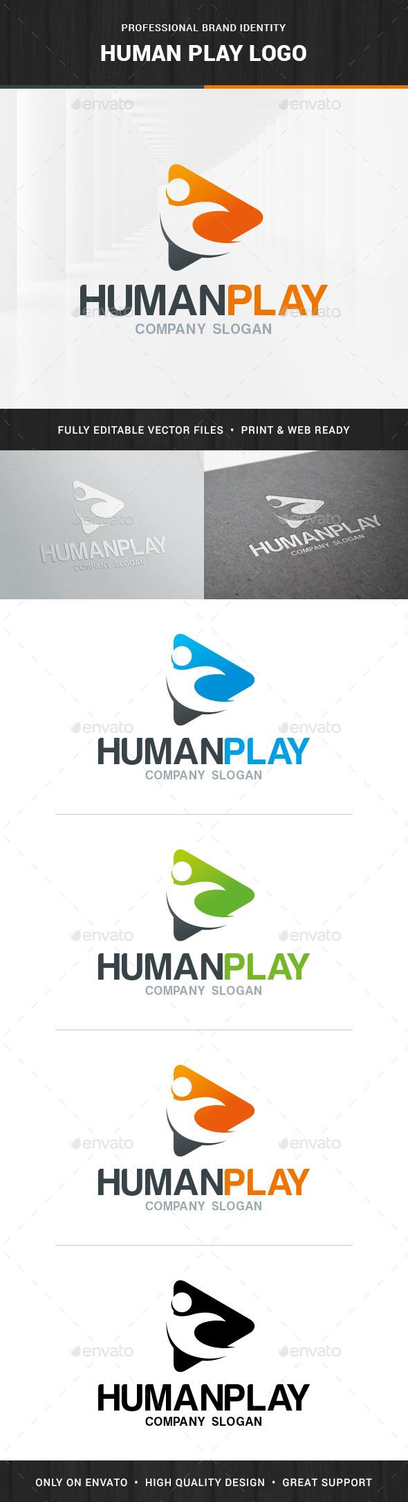 Human Play Logo Template - Humans Logo Templates