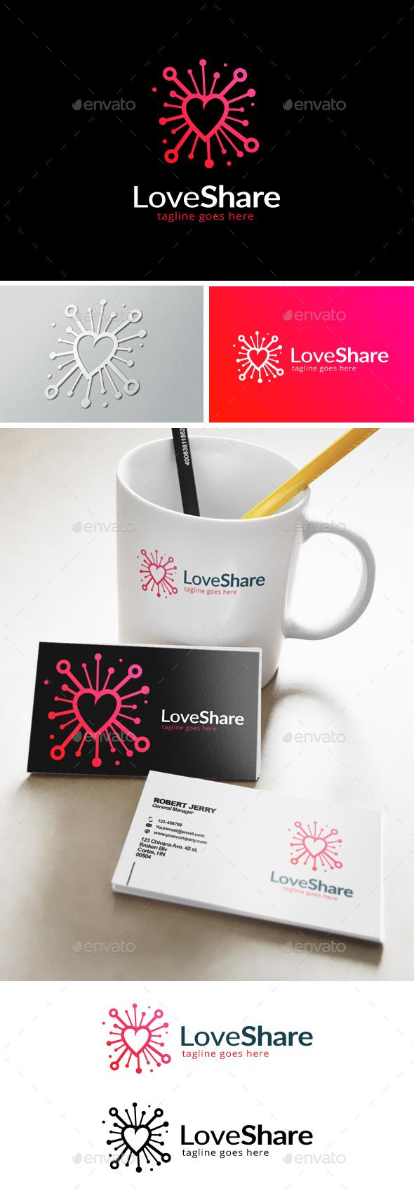 Love Share Logo - Objects Logo Templates