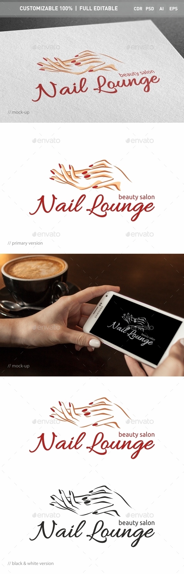 Nail Lounge Logo Template - Objects Logo Templates