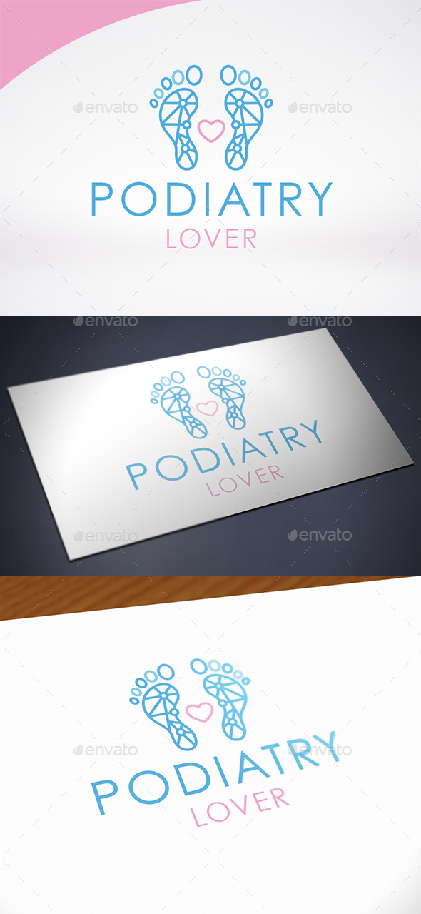 Podiatry Love Logo Template - Humans Logo Templates