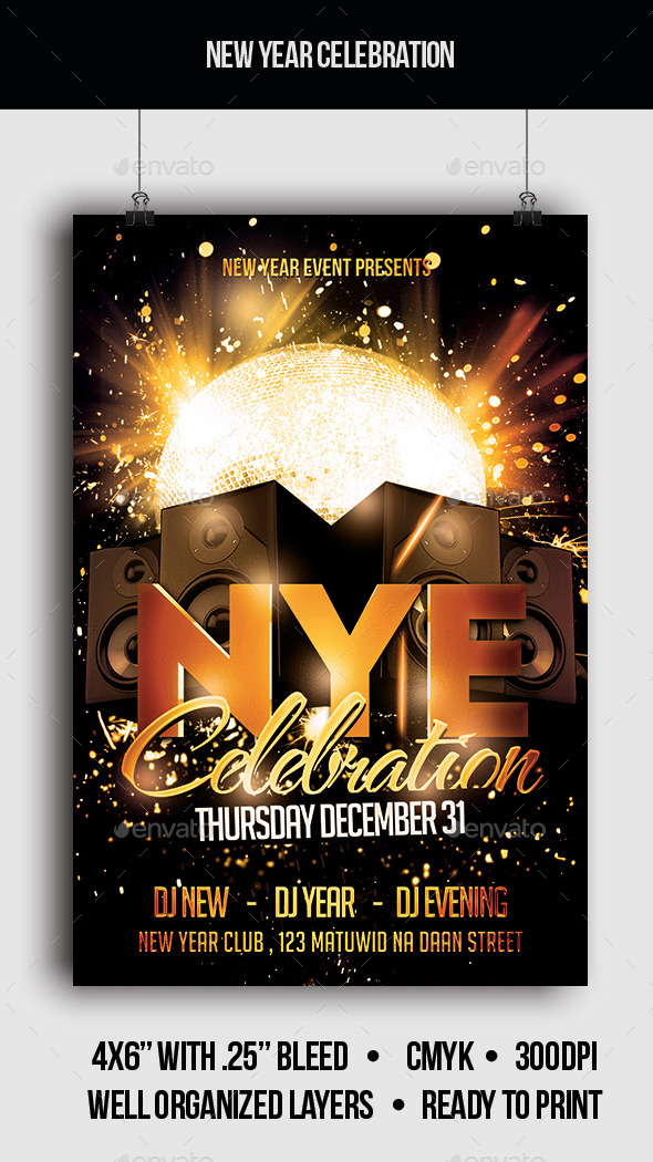 New Year Celebration - Flyer - Clubs & Parties Events