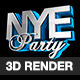 New Years Eve 3D Text Render - GraphicRiver Item for Sale