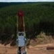 Aerial View Of The Oil Gas Drilling Tower - VideoHive Item for Sale