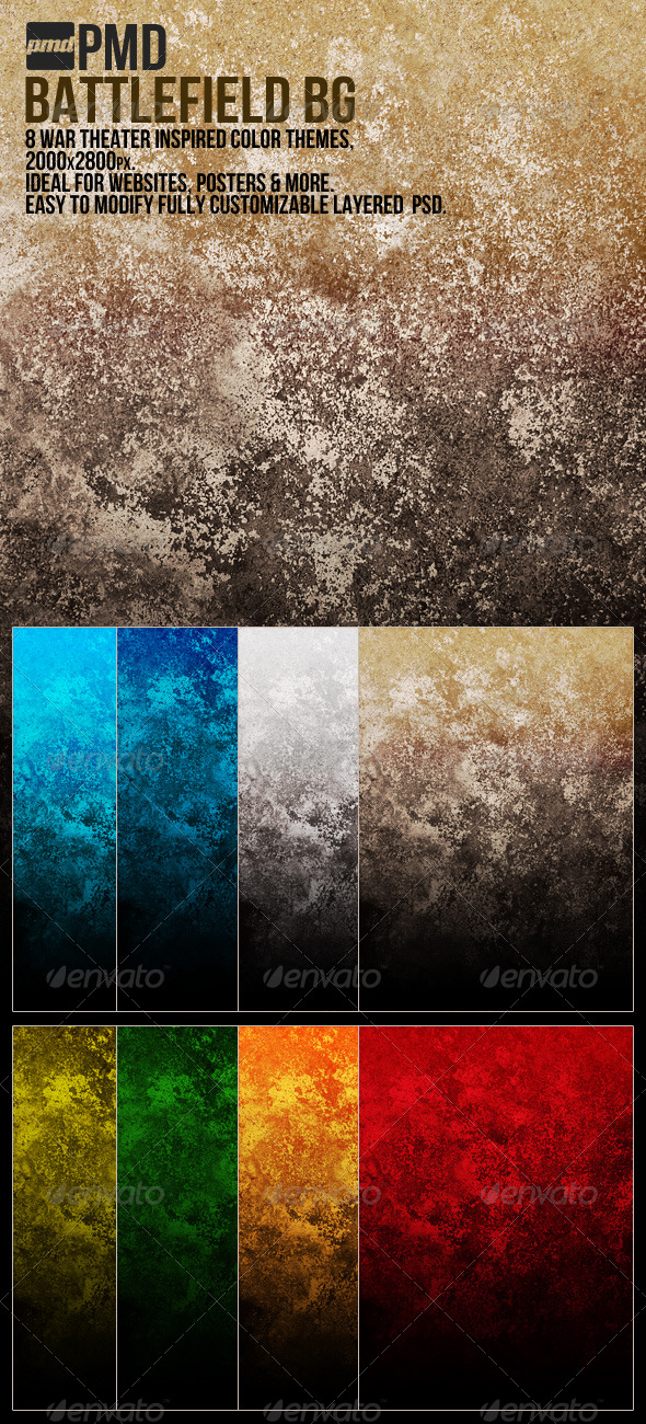 Battlefield BG - War Inspired Grunge - Backgrounds Graphics